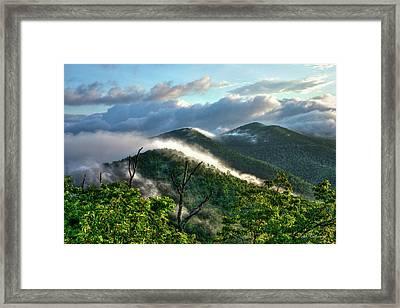 Blue Ridge Parkway Mountain Jumpers Art Framed Print by Reid Callaway
