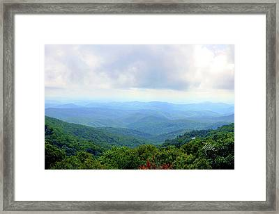 Blue Ridge Parkway Overlook Framed Print