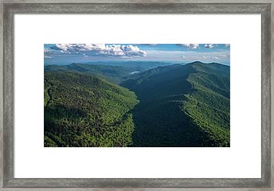 Blue Ridge Parkway Rainbow Gap Framed Print