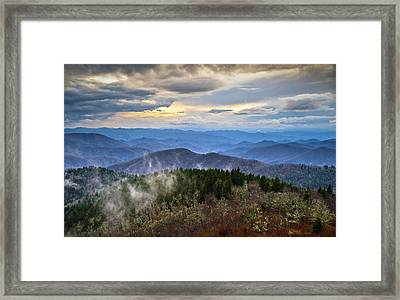 Blue Ridge Parkway Scenic Landscape Photography - Blue Ridge Blues Framed Print by Dave Allen