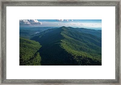 Blue Ridge Parkway Shadow Framed Print