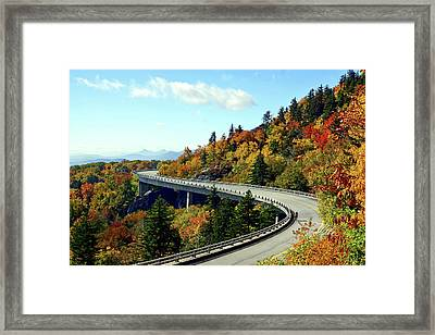 Framed Print featuring the photograph Blue Ridge Parkway Viaduct by Meta Gatschenberger