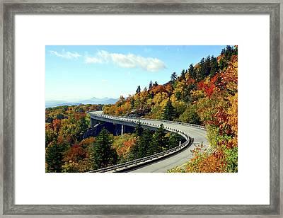 Framed Print featuring the photograph Blue Ridge Parkway Viaduct by Meta Gatschenberger