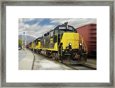 Blue Ridge Southern 3940 On The Move 2 Framed Print by Mike McGlothlen