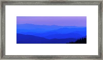 Blue Ridge Spring 08 Framed Print