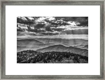 Blue Ridge Sunbeams Framed Print by Brian Young