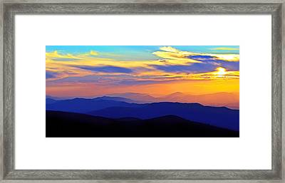 Blue Ridge Sunset, Virginia Framed Print