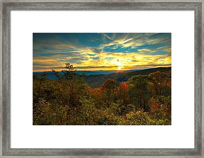Blue Ridge Sunsets Framed Print