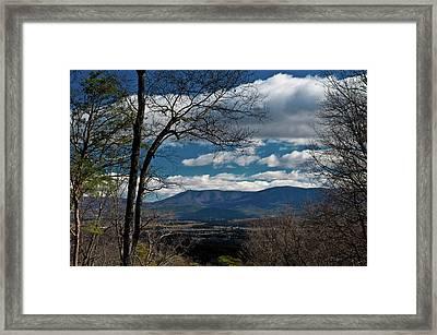 Framed Print featuring the photograph Blue Ridge Thornton Gap by Lara Ellis