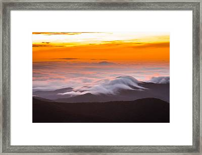 Blue Ridge Valley Of Clouds Framed Print