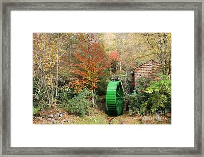 Blue Ridge Waterwheel Framed Print by Stan and Anne Foster