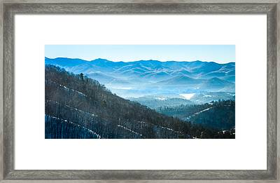Blue Ridge Winter Wonderland Framed Print