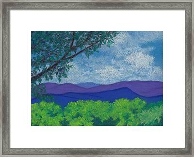 Blue Ridges 4 Framed Print