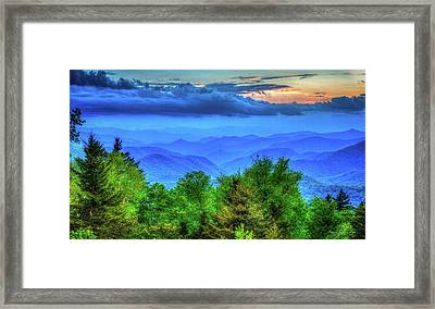 Blue Ridges Great Smoky Mountains North Carolina Framed Print by Reid Callaway