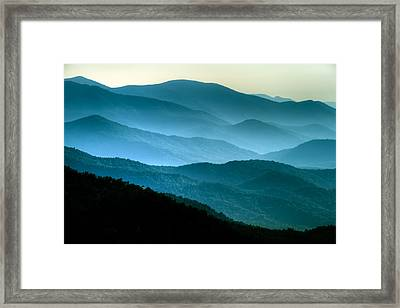 Blue Ridges Framed Print