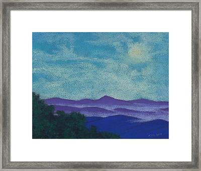 Blue Ridges Mist 1 Framed Print
