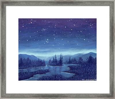 Blue River 01 Framed Print