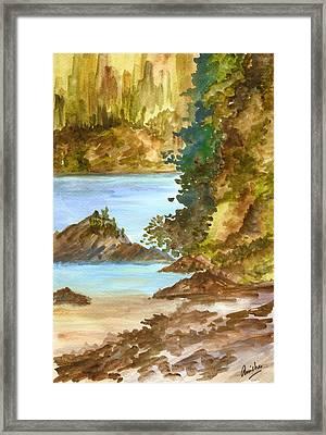Blue River Framed Print by Anisha Bordoloi
