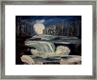 Blue River Framed Print