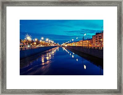Blue Road Framed Print by Vadim Tereshchenko
