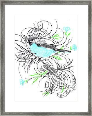Blue Robin Framed Print