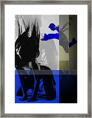 Blue Romance Framed Print by Naxart Studio