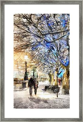 Blue Romance Framed Print by Shirley Stalter