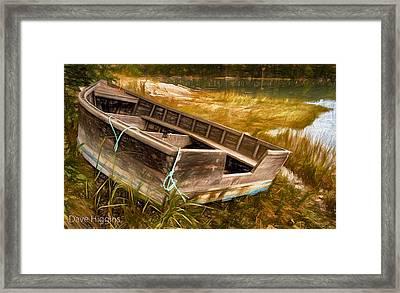 Blue Rope, Barter's Island, Maine Framed Print by Dave Higgins