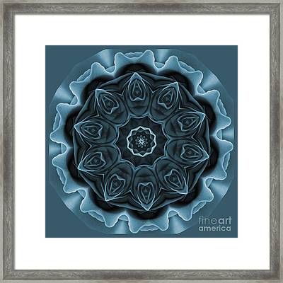 Blue Rose Mandala Framed Print