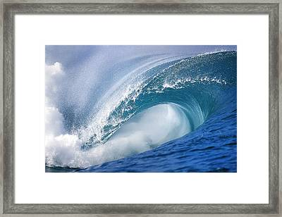Blue Rush Framed Print