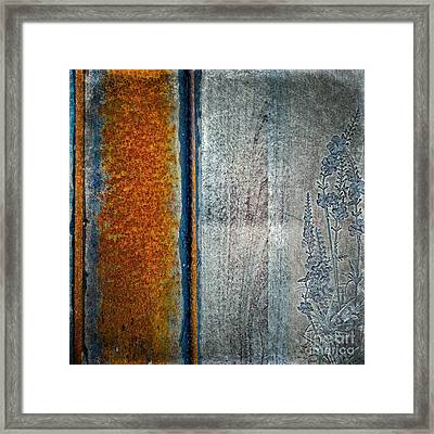 Blue Rust Framed Print