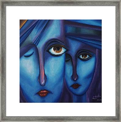 Blue Sadness  Framed Print by Shima Aeen