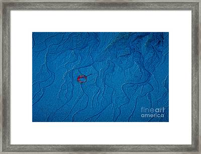 Blue Sand Framed Print by Susan Cole Kelly