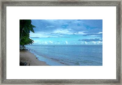 Blue Sand Framed Print