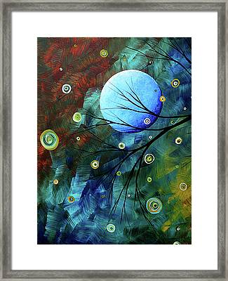 Blue Sapphire 1 By Madart Framed Print by Megan Duncanson