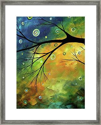 Blue Sapphire 2 By Madart Framed Print by Megan Duncanson