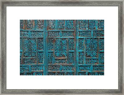 Blue Screens Framed Print by William Thomas