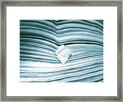 Blue Sea Framed Print by Constance Larimer