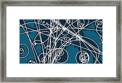 Blue Sea Framed Print by Keith Francis