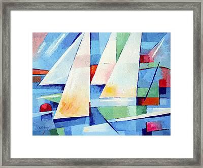Blue Sea Sails Framed Print by Lutz Baar