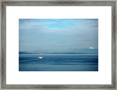 Blue Seattle Framed Print by Susan Stone