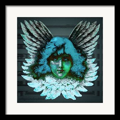 Seraphim Angel Digital Art Framed Prints