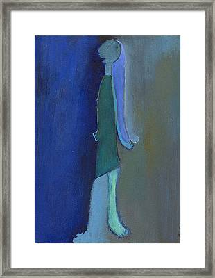 Blue Shadow Framed Print by Ricky Sencion