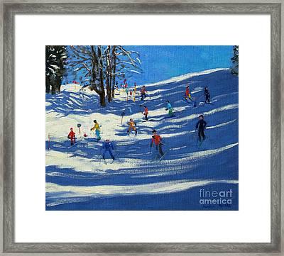 Blue Shadows Framed Print