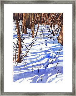 Blue Shadows Framed Print