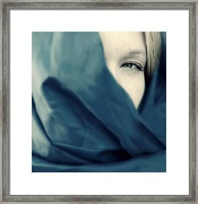 Blue Shawl #02953 Framed Print