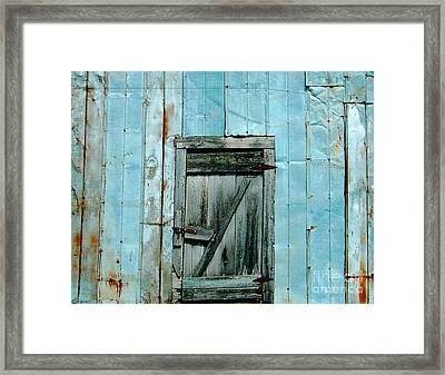 Blue Shed Door  Hwy 61 Mississippi Framed Print by Lizi Beard-Ward