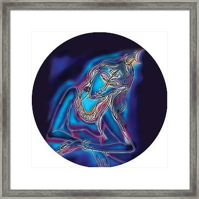 Blue Shiva Light Framed Print