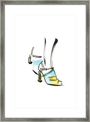 Blue Shoe Framed Print