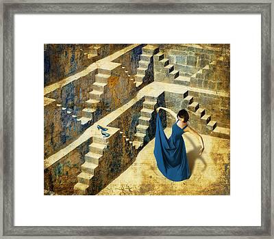 Blue Shoes Framed Print by Van Renselar